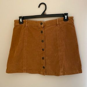 Brown Suede Button Front Skirt!!!